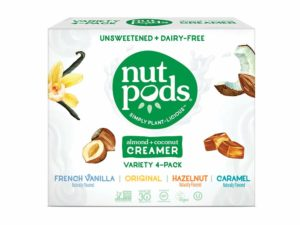 nutpods Variety 4 pack, Original, French Vanilla, Hazelnut and Caramel Unsweetened Dairy-Free Liquid Best Coffee Creamer Made From Almonds and Coconuts