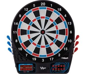 Viper 777 Electronic Dartboard, Easy To Use Button Interface, Red White And Blue Segments, Double Height Cricket Scoreboard, Quick Cricket Key Gets…