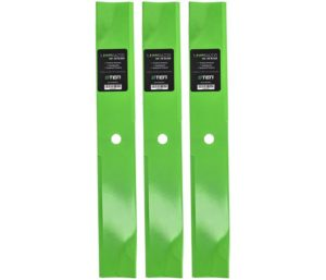 8TEN LawnRAZOR High Lift Best Lawn Mower Blades Set for Scag 482878 481707 481711 Exmark 1-633482 539100341 3 Pack