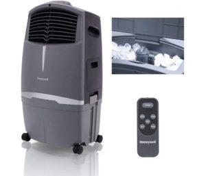 Honeywell 525 CFM Indoor Outdoor Portable Best Evaporative Cooler, 525CFM, Grey
