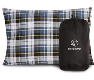 REDCAMP Outdoor Camping Pillow Lightweight, Flannel Travel, Pillow Cases, Removable Cover