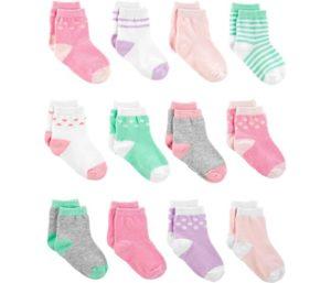 Simple Joys by Carter's Baby Girls' 12-Pack, Best Baby Socks