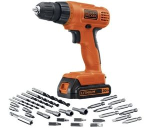 BLACK+DECKER 20V MAX Cordless Drill Driver with 30-Piece Accessories LD120VA