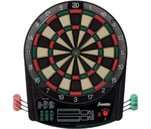 Franklin Sports Electronic Dartboard Set - Digital Dartboard with Scoreboard - Official Size 15.5 - Safe Soft Tip Dartboard - FS6000