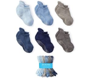 LA Active Grip Ankle Socks - Baby Toddler Infant Newborn Kids Boys Girls Non Slip Anti Skid