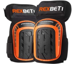 Best Knee Pads for Work, Construction Gel Knee Pads Tools by REXBETI, Heavy Duty Comfortable Anti-slip Foam Knee Pads for Cleaning Flooring and Garden, Strong Stretchable Straps, 1 Pair