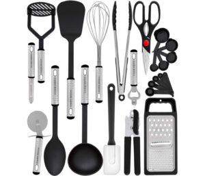 Home Hero Best Kitchen Utensil Set - 23 Nylon Cooking Utensils - Spatula - Kitchen Gadgets Cookware Set - Best Kitchen Tool Set