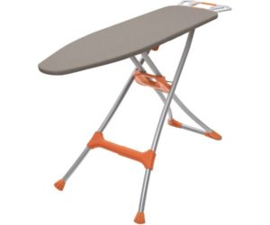 Homz Durabilt DX1500 Premium Steel Top Ironing Board with Wide Leg Stability, Adjustable up to 39.5, Heavy-Duty Best Ironing Boards