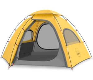 KAZOO Outdoor Camping Tent Family, Durable, Best Waterproof Tent, Easy Setup, Two Person Tent Sun Shade 2 3 Person