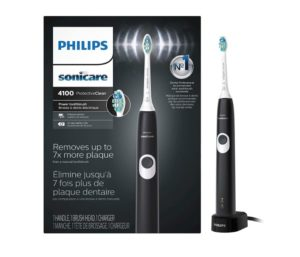 Philips Sonicare HX6810 50 ProtectiveClean 4100 Rechargeable Electric Best Toothbrush for Braces, Black