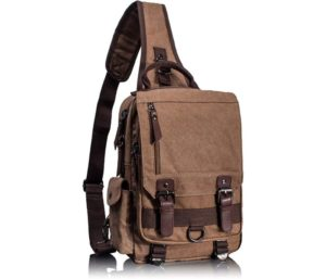 Leaper Retro Messenger Bag Canvas Shoulder Backpack Travel Rucksack Best Sling Bag