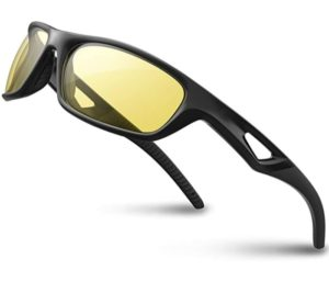 RIVBOS Polarized Sports Sunglasses, Best Driving Sunglasses, Shades For Men TR90 Unbreakable Frame RB831