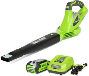 Greenworks 40V 150 MPH Leaf Blower, 2.0Ah Battery, and Charger Included 24252