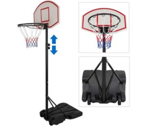 ZENY Portable Basketball Hoop Backboard System Stand and Rim for Kids Youth w Wheels Adjustable Height 5.4ft - 7ft Indoor Outdoor Basketball Goal Game Play Set