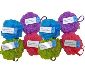 Aquasentials Best Shower Sponges (8 Pack)
