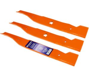 Husqvarna HU22027 48-Inch Premium Hi-Lift Bagging Blade, 3-Pack, Orange