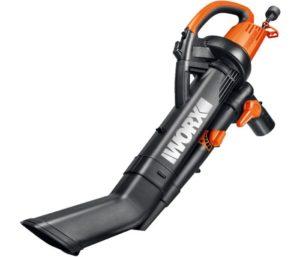 WORX WG505 3-in-1 Best Leaf Vacuum Mulcher, 9 x 15 x 20, Orange and Black