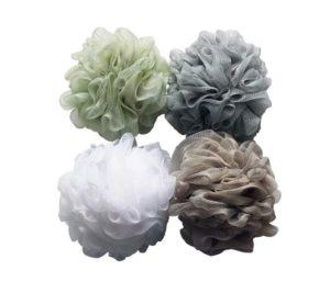 Best Shower Sponge Loofahs (60g pcs) Mesh Pouf Shower Ball, Mesh Bath and Shower Sponge Pack of 4
