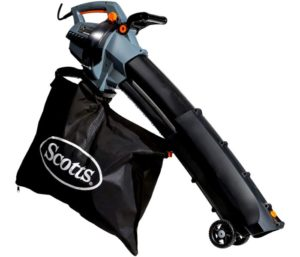 Scotts Outdoor Power Tools BVM23014S 14-Amp 3-in-1 Corded Electric Blower Vac Mulcher, Black Grey