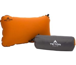 TETON Sports ComfortLite Self-Inflating Pillow; Support Your Neck and Travel Comfortably; Take it on the Airplane, in the Car, Backpacking, and Camping; Washable; Stuff Sack…