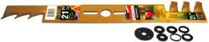 MaxPower 331981B 21-Inch Universal Gold Metal Mulching Lawn Mower Blade, black