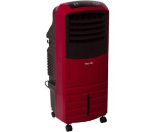NewAir AF-1000R, Portable Indoor Tower Fan with Evaporative Air Cooler and Humidifier, 300 Square Foot Effective Range, Red