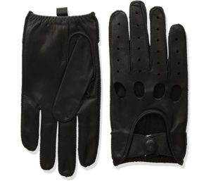 Isotoner Men's Smooth Leather Driving Glove With Covered Snap