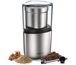 SHARDOR Electric Coffee Bean Grinder, Best Spice Grinder, 1 Removable Bowl with Stainless Steel Blade, Silver