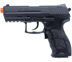 HK Heckler & Koch P30 Electric Blowback 6mm BB Best Airsoft Pistol, Airsoft Gun, Black