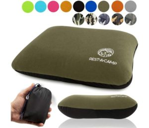 Inflatable Camping Travel Pillow Ultralight - Best Compact Backpacking Pillow - Portable Air Pillow for Backpack Camp Exped Travelling Hiking Survival Sleeping…