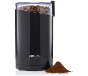 KRUPS F203 Electric Spice and Coffee Grinder with Stainless Steel Blades, 3 oz 85 g, Black