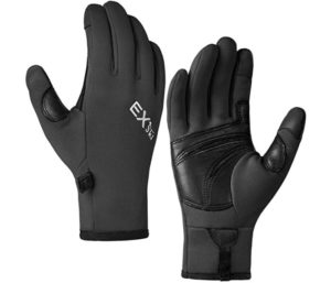 MCTi Touchscreen Gloves Fleece Lined Goatskin Palm Lightweight for Running Driving