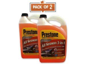 Prestone AS658 Deluxe 3-in-1 Best Windshield Washer Fluid, 1 Gallon, 2 Pack
