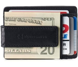 Alpine Swiss RFID Harper Money Clip Best Front Pocket Wallet