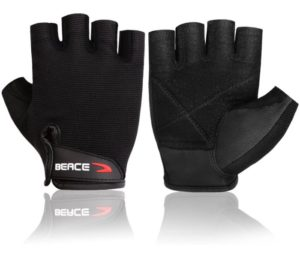 BEACE Weight Lifting Gym Gloves with Anti-Slip Leather Palm for Workout Exercise Training Fitness, Bodybuilding
