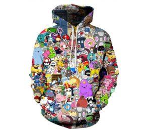 Indrah Mens Pullover Hoodie, 3D Printed Hooded Sweatshirts