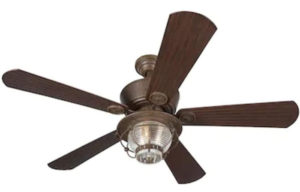 Merrimack 52-in Antique Bronze Downrod Mount Indoor Outdoor Ceiling Fan with Light Kit and Remote