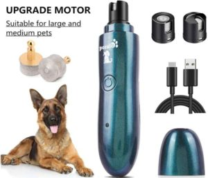 Pecute Large and Medium Dog Nail Grinder Rechargeable Electric Pet Nail Trimmer