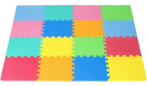 ProSource Thick Foam Puzzle Play Mat with Solid Color
