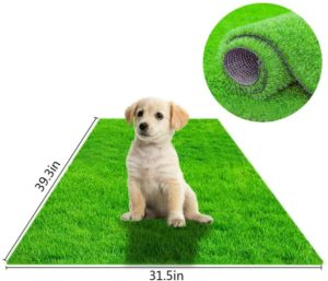 STARROAD-TIM Best Artificial Grass Rug Turf for Dogs Indoor Outdoor Fake Grass for Dogs Potty Training Area Patio Lawn Decoration