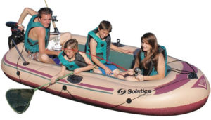Solstice by Swimline Voyager 6-Person Best Inflatable Boat