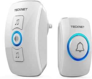 TeckNet Wireless Door Bell Chime Kit with LED Light