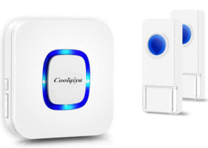 Coolqiya Wireless Doorbells Chimes for Home No Battery Required for Receiver