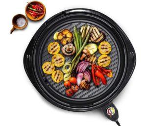 Elite Cuisine Elite, Electric Round Nonstick Grill Fast Heat Up