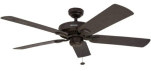 Honeywell Belmar 52-Inch Indoor Fan Best Outdoor Ceiling Fans, Five Damp Rated Fan Blades, Bronze