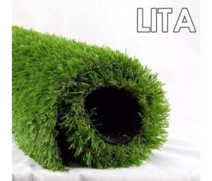 LITA 7ft x 13ft Realistic Deluxe Best Artificial Grass Synthetic Thick Lawn Turf Carpet Perfect for Indoor Outdoor Landscape, 7 X13 , Green