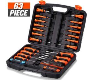 REXBETI Magnetic Best Screwdriver Set, 63 in 1 Multifunctional Repair Tool Kit