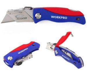 WORKPRO Folding, Blade Storage in Handle