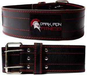 Dark Iron Fitness Genuine Leather Pro Best Weightlifting Belt