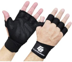 New Ventilated Best Weight Lifting Gloves, Wrist Wraps, Full Palm Protection, Extra Grip